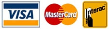 Vista, Mastercard, and Interac Logos